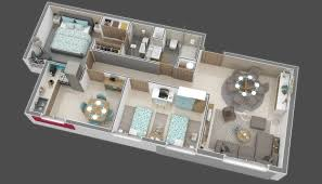 3d model floor plan appartement floorplan 78m 3d cgtrader