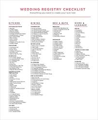 wedding registry wedding registry checklist pdf check list pdf and