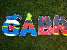 Mickey Mouse Clubhouse Bedroom Decor Mickey Letters Clubhouse Wood Letters With Characters For
