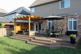 pergola and deck extension with privacy screen contemporary