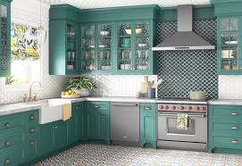 kitchen cabinet colors trends bold and bright colors are trending right now says wayfair