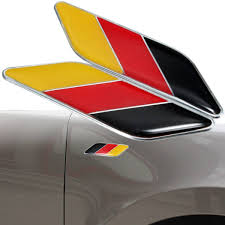 German Flag Shirt 2pcs 3d German Flag Sticker Badge Emblems Decal Decor For Car