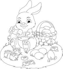 419 easter bunny coloring cliparts stock vector royalty