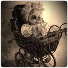 burnt creepy doll halloween prop old vintage pram it u0027s the most