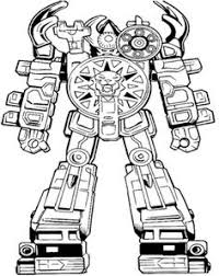 robot power rangers turbo coloring u0026 complicated