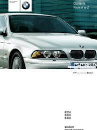 bmw 525i 530i 540i sedan sport wagon owner s manual trunk car