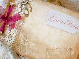 vintage wedding guest book wedding guest book vintage shabby chic custom on luulla