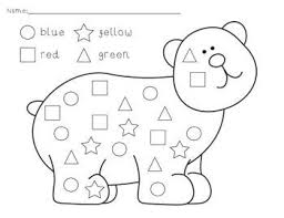 colors and shapes worksheets for preschoolers austsecure com