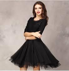 2017 spring summer women u0027s fashion organza dress knee length lace