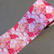 3 inch grosgrain ribbon flamingo ribbon 38mm 75mm printed ribbon
