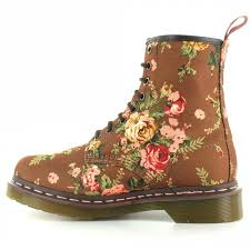 womens boots vancouver bc dr martens r11821260 8 eye 1460 w taupe flowers