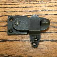 black cast iron cupboard privacy latch 2
