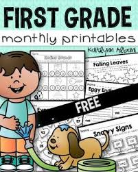 free first grade math and literacy printable worksheets free