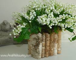 Rustic Vases For Weddings Birch Bark Wood Vases Square Wedding Flower Pot Planter