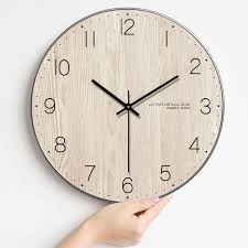 minimalist wall clock modern minimalist wall clock living room wooden wall clock nordic