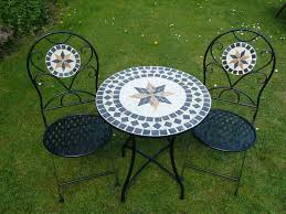 Mosaic Patio Table And Chairs Patio Dining Sets Patio Tile Dining Table Mosaic Dining Room
