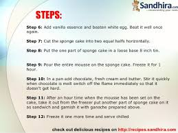 how to make a cake step by step swiss chocolate mousse cake recipe