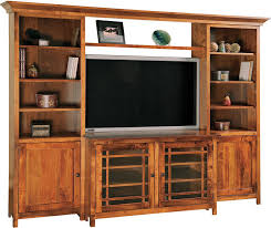 Console Bookshelves by Jason Mission Tv Console With Bookcases
