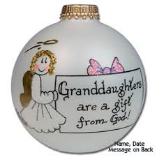 buy granddaughter glass ornament personalized ornament