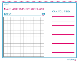 make own word search resource make your own word search collaboroo a new online