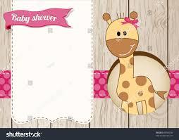 baby shower giraffe royalty free baby shower giraffe girl card 90580246 stock photo