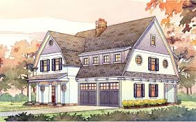 Gambrel Roof Plans by 2 Story Passive Solar Gambrel House Plan 16503ar Architectural