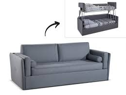 canap 3 place convertible canapé 3 places convertible superposé en tissu gris chana