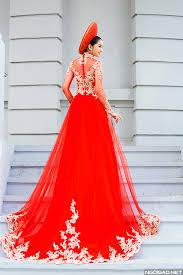 ao dai cuoi dep mỹ duyên gợi ý 3 sắc màu áo dài cưới sang trọng