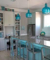 turquoise blue glass pendant lights beachy blue kitchen blue kitchen island and blue glass pendant
