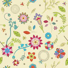 cute flowers wallpaper pattern free vectors ui download
