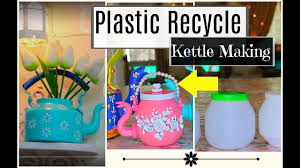how to make decorative kettle using waste plastic kettle making