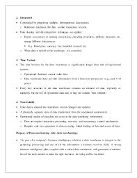 Data Warehouse Sample Resume by Data Mining And Data Warehousing
