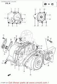 suzuki lt230e 1987 h crankcase cover schematic partsfiche