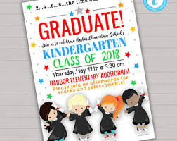 preschool graduation invitations preschool graduation invitation etsy