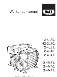hatz repair manual pump