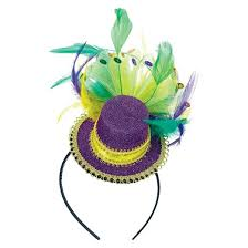 mardi gras headbands mardi gras feathered headband target