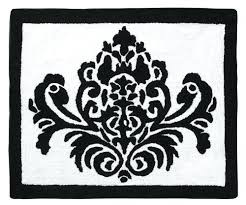 Damask Bath Rug Damask Bath Rug Black And White Damask Area Rug Bath Mat Black