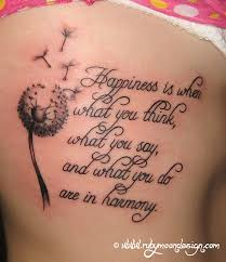 s quote tattoos blowball text my big project
