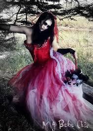 Prom Queen Halloween Costumes Zombie Bride Prom Queen Vampire Burlesque Costume Mybebechic