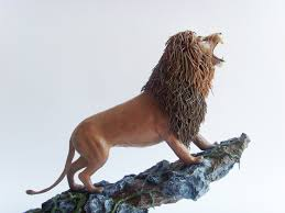 lion figurine lion statue original handmade ooak lion sculpture lion figure