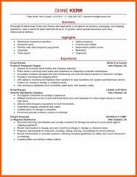 4 5 packer job description resume formsresume