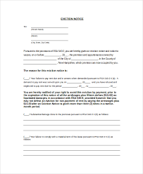 sample eviction notice form 8 examples in word pdf