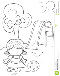 hand drawn coloring page of a playing ball stock illustration