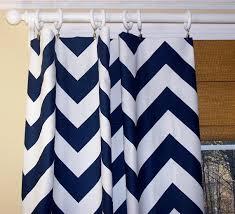 Navy Blue Chevron Curtains New Modern Zippy 2 Wide Chevron Zig Zag Curtains Premier Fabric