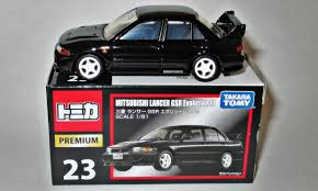 tomica mitsubishi mitsubishi lancer gsr evolution iii model cars hobbydb