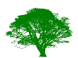 best free green tree silhouette images