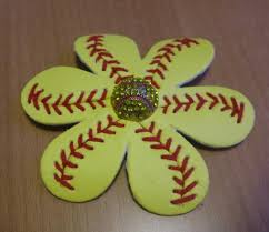 softball hair bows 2018 new softball baseball flower softball flower hair clip and