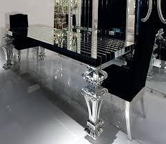 black glass table top insanely gorgeous dining room black glass this would look amazing