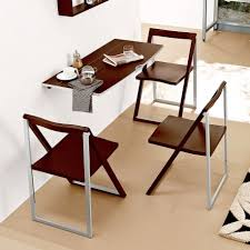 Dining Room  Stylish Wall Mounted Table Small Glassware Folding - Wall mounted dining table designs