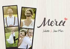 modele remerciement mariage carte de remerciement mariage photomaton popcarte
